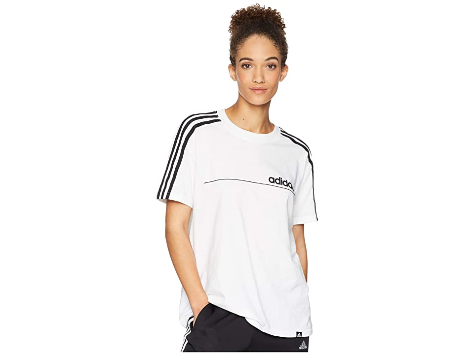 adidas Oversized Line Tee (White) Women