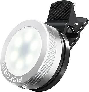Universal Clip-On Mini LED Light Portable Pocket Spotlight for iPhone, iPad, iPod, Samsung, LG, Motorola, HTC, Nokia, Cell Phones and Tablets Camera Video Light (Chrome)