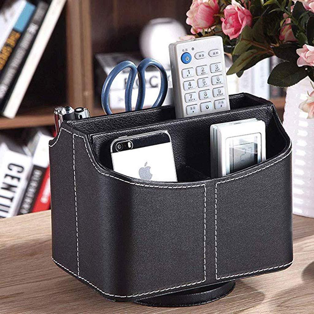 Organizador de escritorio de diseño creativo, soporte para mando a distancia con caja de almacenamiento de