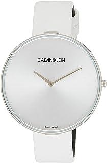 Calvin Klein Women's Black Dial Leather Band Watch - K8Y231-L6