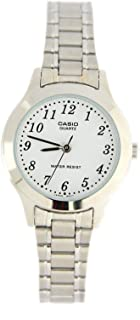 Casio #LTP1128A-7B Women's Metal Fashion Analog Easy Reader White Dial Dial Quartz Watch
