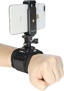 アクションカム ウェアラブルカメラ スマートフォン ベルクロ脱着式 360° パノラマ回転 手首マウント ビデオ 動画撮影 アクセサリー (リストバンド)