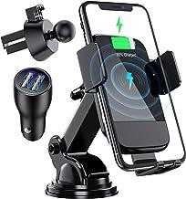 شارژر بی سیم اتومبیل ، CTYBB Qi Automatic Clamping Air Vent Dashboard Car Holder Phone Car & QC 3.0 Car Charger، 10W سازگار برای Galaxy S10 / S10 + / S9.7.5W شارژ سریع برای iPhone Xs / Xs Max / XR.