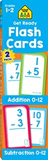 School Zone - Get Ready Flash Cards Addition & Subtraction 2 Pack - Ages 6 to 7, 1st Grade, 2nd Grade, Addition, Subtraction, Early Math, Problem-Solving, and More