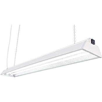 "DuroLux DL842N T5 4Ft 2 Fluorescent Lamps Grow Lighting System with 10000 Lumens and 6500K Full SunlightSpectrum and Low Profile 7"" Wide Reflector"