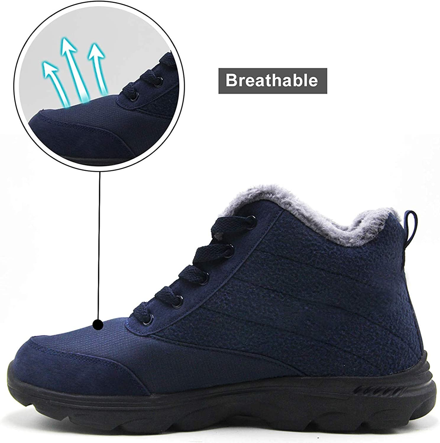 BenSorts Womens Snow Boots Fur Lined Anti-Slip Warm Winter Boots Outdoor Ankle Booties