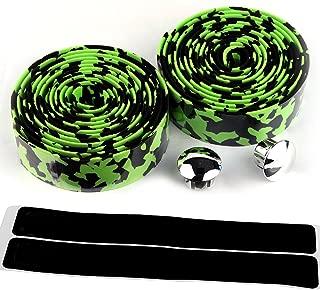 AmazingEC Camouflage Pattern Cork Handlebar Tape Wrap Cycling Road Bike Sports Antiskid with End Plugs