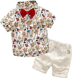 Fairy Baby Summer Casual Boys Outfit 2pcs Clothes Set Kids Beach Tops Shirt+Shorts Pant Set