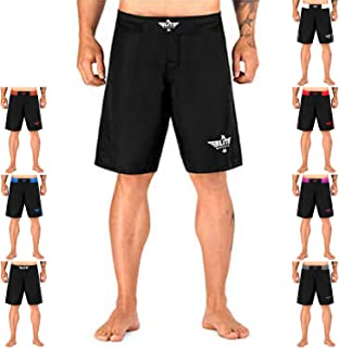 Elite Sports Black Jack Fight Shorts - Boxing, UFC, No-Gi, MMA, BJJ Shorts