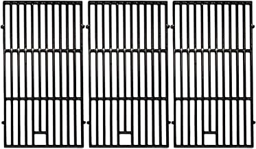 Hongso 19 1/4 inch Porcelain Coated Cast Iron Grill Grates Replacement for Brinkmann 810-8502-S 810-8501-S, Charmglow 720-0234 720-0396, Jenn-Air 720-0337 Gas Grill,5 Burner Ducane Stainless, PCE223