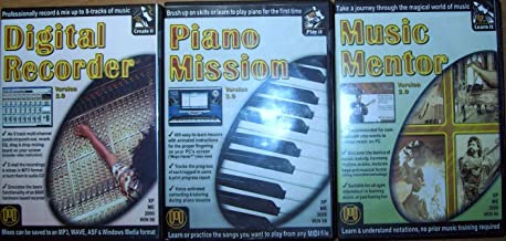 Midisoft Digital Recorder Version 2.0, Piano Mission Version 3.0, and Music Mentor Version 2.0 Quick Start Series, Set of 3
