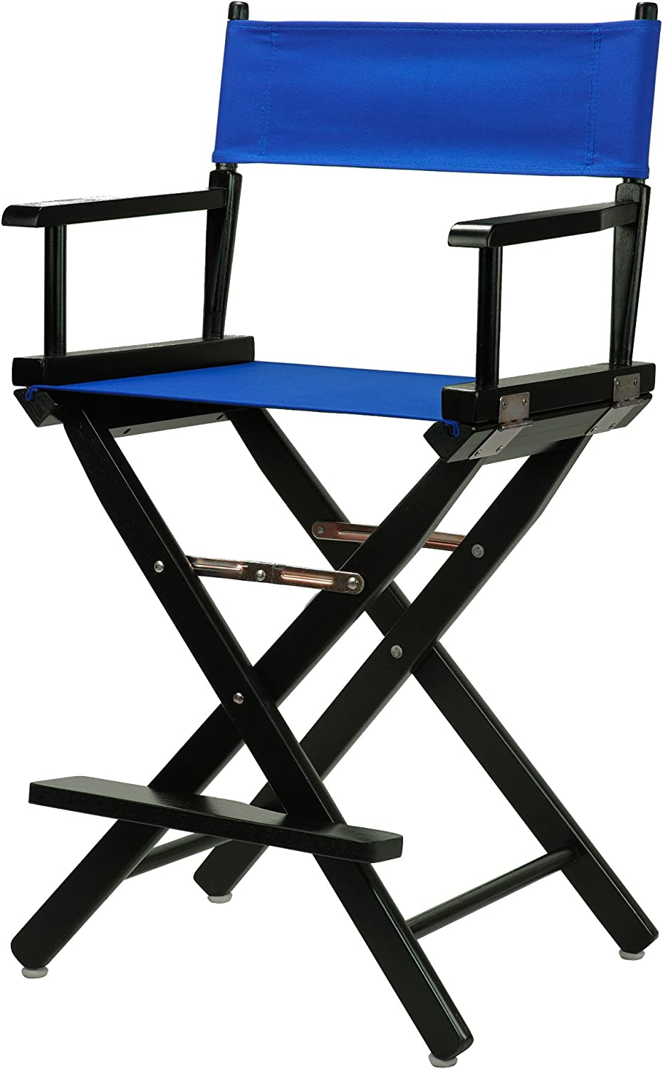 Casual Home 24-Inch Director Chair Black Frame, Royal bluee Canvas