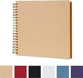 10 x 10 Inch DIY Scrapbook Photo Album Hardcover Kraft Blank Yellow Page Wedding and Anniversary Family Photo Album (Yellow, 10 Inch)