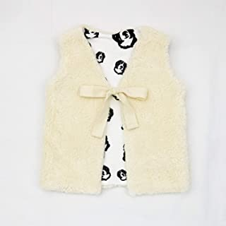 Bernese Mountain Dog Print Baby Girl Vest, Size 12-18 Month