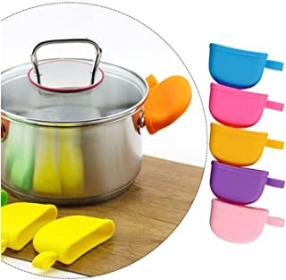 HYXHD Kitchen Accessories Silicone Heat Resistant Cover Anti-skid Lid Holding Knob Pot Handle (Color : Pink)