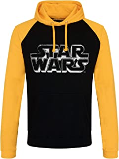 STAR WARS Officially Licensed Distressed Logo Baseball Hoodie