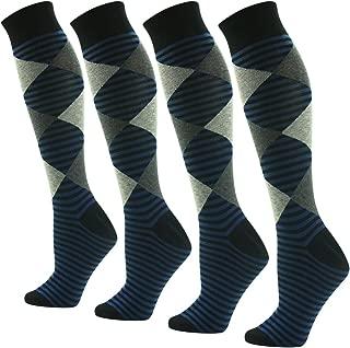 Men's Women's Unisex Knee High Soft Long Dress Socks,1-4 Pairs