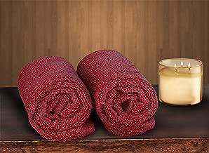 Bombay Dyeing Cotton Hand Towel Set (40 x 60 cm, Mauve/Red) -2 Piece