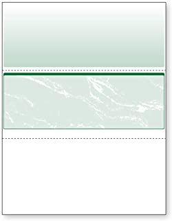 DocuGard Green Marble Middle Check, 8.5 x 11 Inches, 24 lb, 500 Sheets, 1 Check Per Sheet (04510)