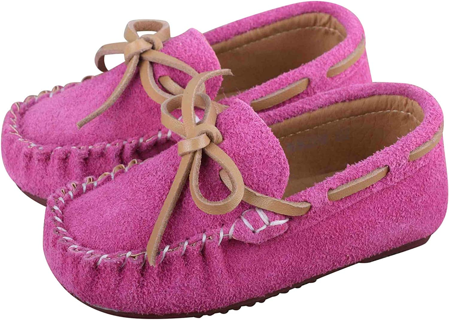 Jacksonville Mall Toddler Boy's Girl's Suede Moccasin S Loafers Flats Boat Leather Manufacturer OFFicial shop