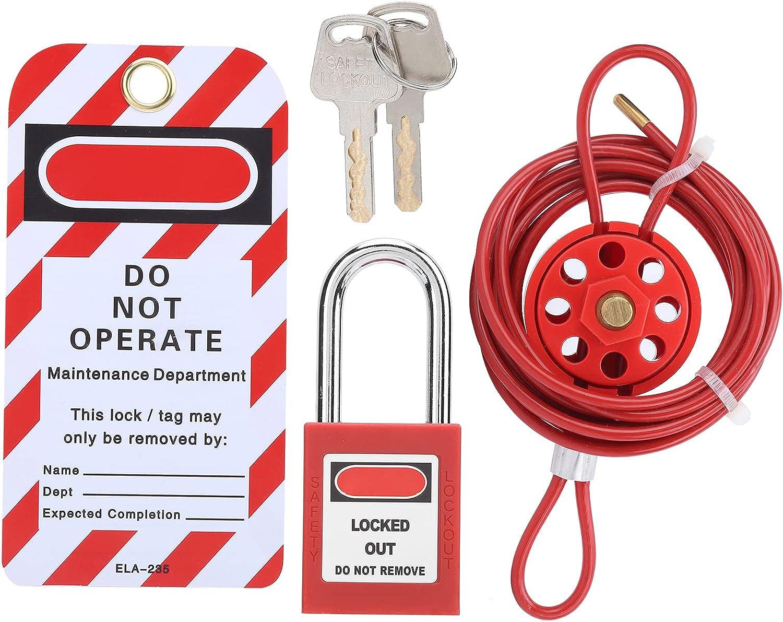 Large special price online shopping menfad Cable Lock Adjustable Insulation Universal 8 Padlocks Loc