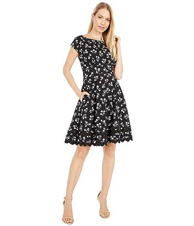 Kate Spade New York Dandelion Floral Ponte Dress (Black) Women