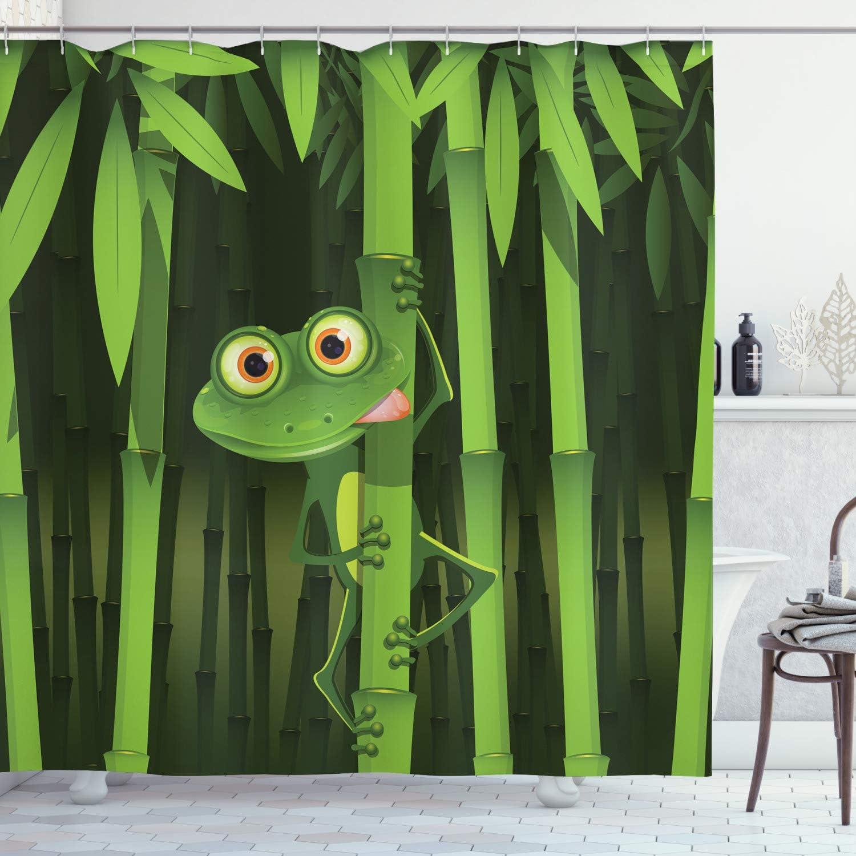 Now on sale Ambesonne Animal Shower Curtain Credence Cartoon Illustrati Jungle Funny