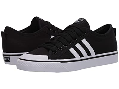 adidas Originals Kids Nizza (Big Kid) (Black/White) Kids Shoes