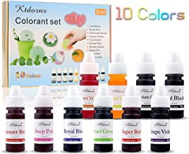 Ktdorns Soap Dye Soap Making Set - 10 Liquid Colors for Soap Coloring,Coal Black, Royal Blue,Chocolate Brown,Lemon Yellow,Fruit Green,Sunset Red,Sunset Yellow,Deep Pink,Super Red and Grape Violet.
