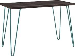 Ameriwood Home Owen Retro Desk, Espresso/Teal
