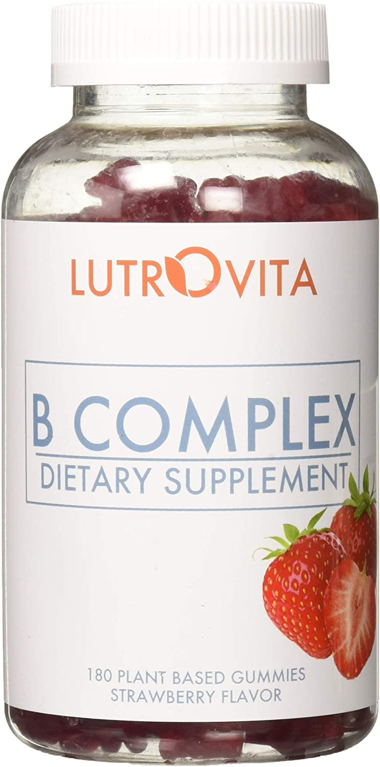 Lutrovita B Complex Max 52% OFF Gummy Inventory cleanup selling sale 180 Strawberry Count