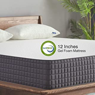 Queen Mattress,Sweetnight 12 inch Gel Memory Foam Mattress in a Box, Sleeps Cooler