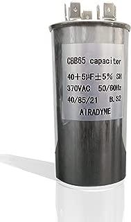 CBB65 Motor Run Capacitor,  40+5 uF +5%,  370VAC,  50/60Hz,  40/85/21,  RU CSA VDE CE Certified