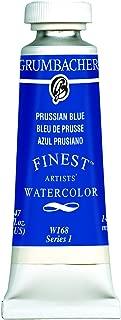 Grumbacher Finest Watercolor Paint, 14 ml/0.47 oz, Prussian Blue