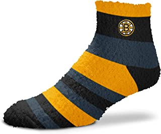 For Bare Feet NHL Rainbow Fuzzy Sleep Soft Socks-1 Size Fits Most