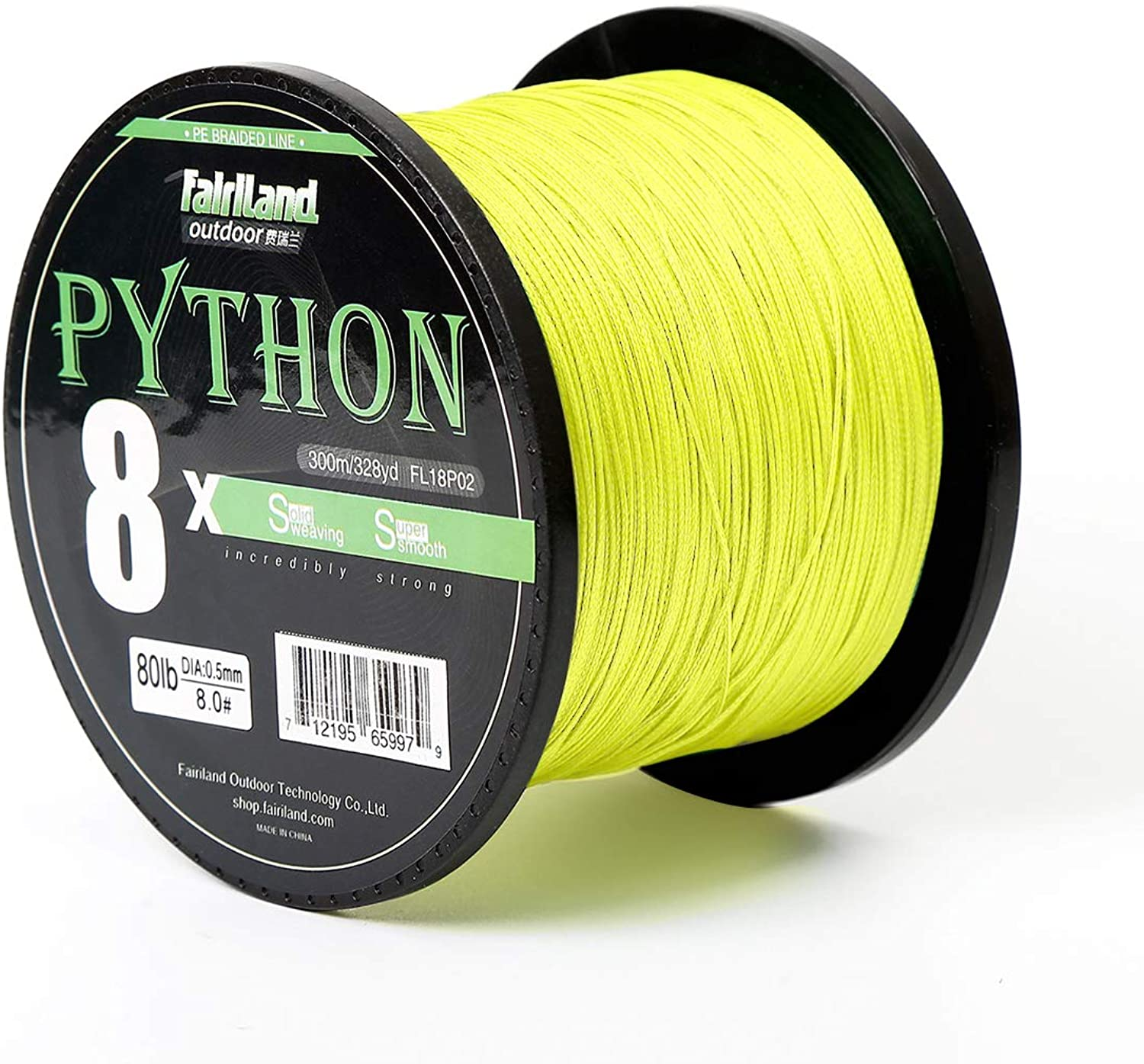 Fairiland Superpower Braided Fishing Line  Abrasion Resistant Braided Lines 8 Strands Multicolor PE Line Wire 150m 300m 500m 0.8 8.0  2180Lb Super Strong High Performance PE Fishing Lines