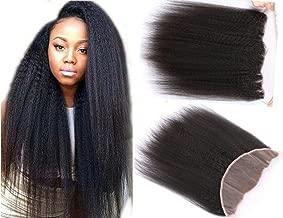 Brazilian Virgin Hair Free Part Lace Frontal Closure Kinky Straight 13x4