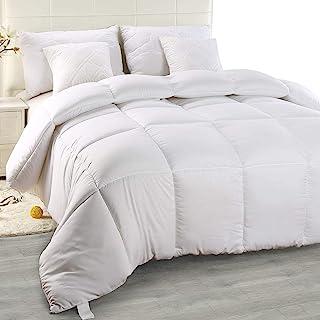 Utopia Bedding - Edredón de Fibra, Fibra Hueca siliconada, 1200 gramo (Blanco, Cama 80/90-155 x 220 cm)
