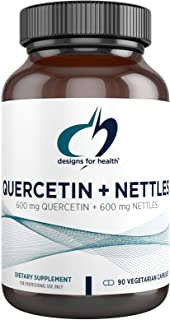 Designs for Health Quercetin + Nettles Capsules - Flavonoid + Stinging Nettle Herbal Supplement - Immune Support - Non-GMO...