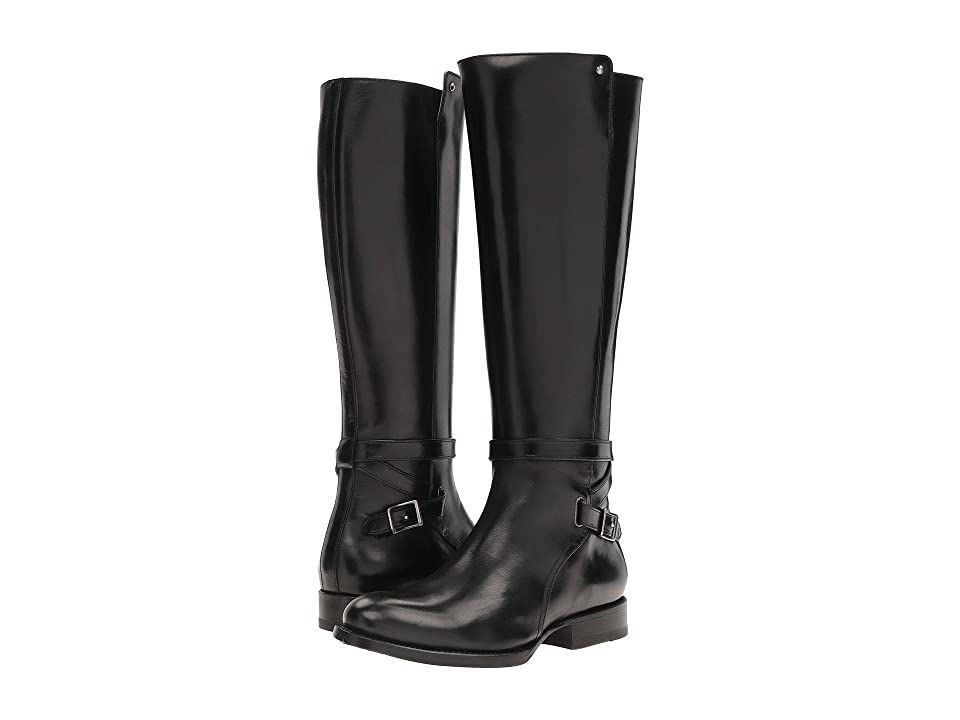 Frye Jordan Strap Tall (Black Smooth Veg Calf) Women