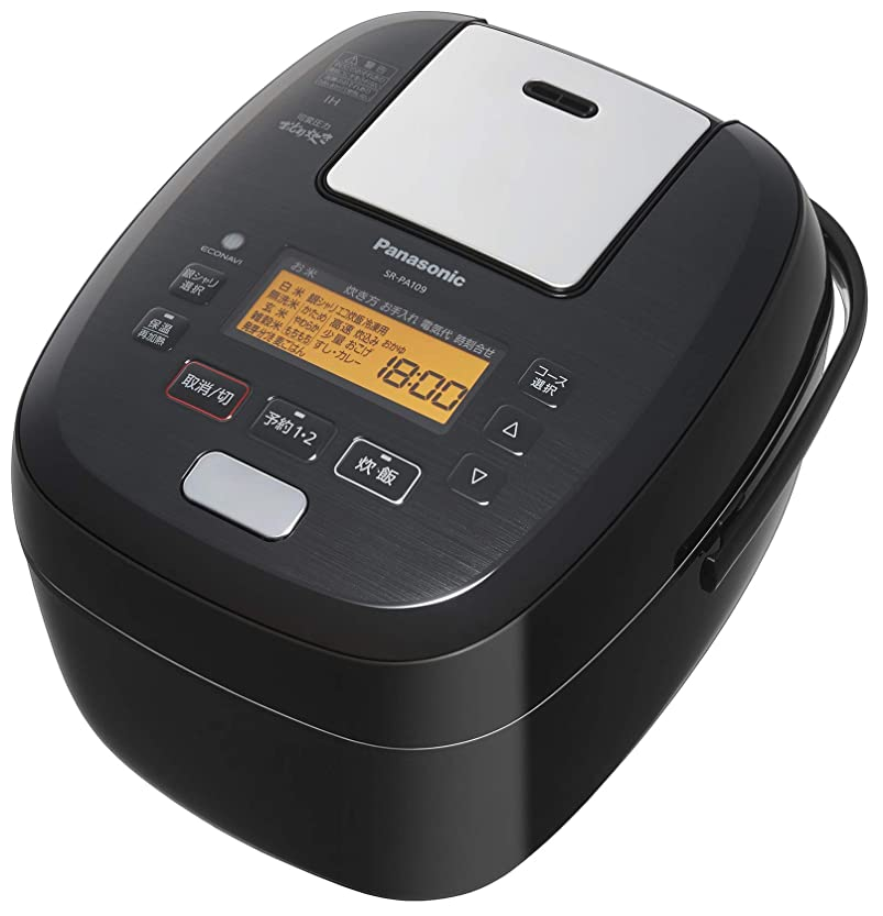 自動化マリンキロメートルパナソニック 5.5合 炊飯器 圧力IH式 おどり炊き ブラック SR-PA109-K