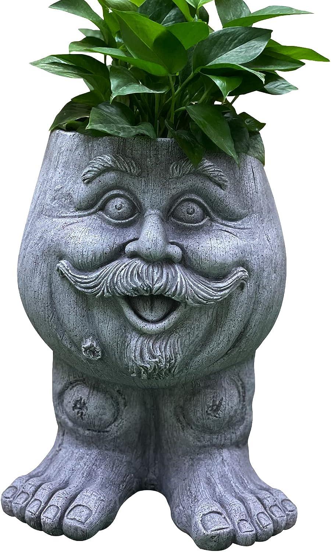 OUSHUAI Statue Planter Indoor Art Decor Garden Ranking TOP3 Max 72% OFF Outdoor Flowerpot