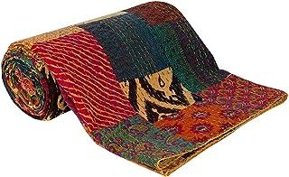Sophia-Art Cama Cubierta sofá Cubierta Reversible Ikat algodón Colcha decoración Arte