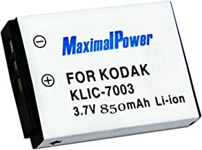 Maximal Power DB KOD KLIC-7003 Replacement Battery for Kodak Digital Camera/Camcorder (Black)
