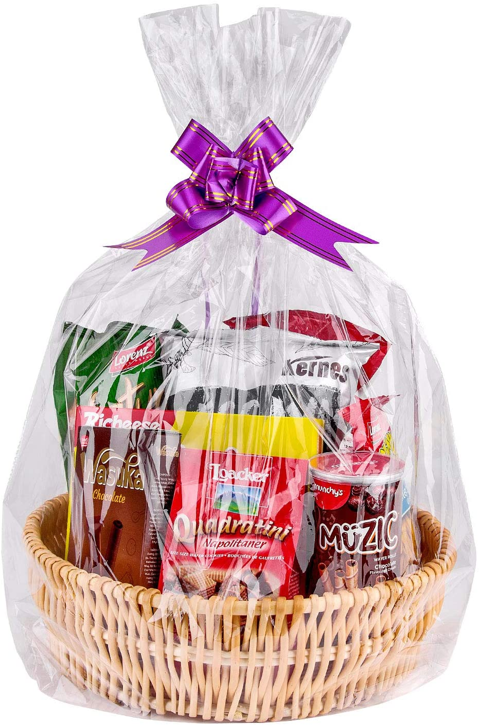 """Cellophane Bags,Clear Cellophane Wrap for Baskets, Gifts 24""""x 30"""" 1.5 Mil Thick (20 Pack) : Health & Household"""