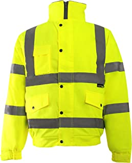 GREFER Mens Hoodie Jackets Road Work High Visibility Pullover Long Sleeve Sweatshirt Tops Coats Outerwear