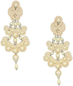 Tory Burch Beaded Chandelier Earrings