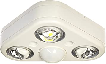 All Pro Outdoor Security REV32735MW Revolve LED Triple Head 270 Degree Motion Security Light, 2400 lm, White, 3500K by All Pro Outdoor Security