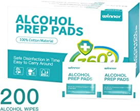 Winner Sterile Alcohol Prep Pads,Medium 4-Ply - 200 Alcohol Wipes (2.36