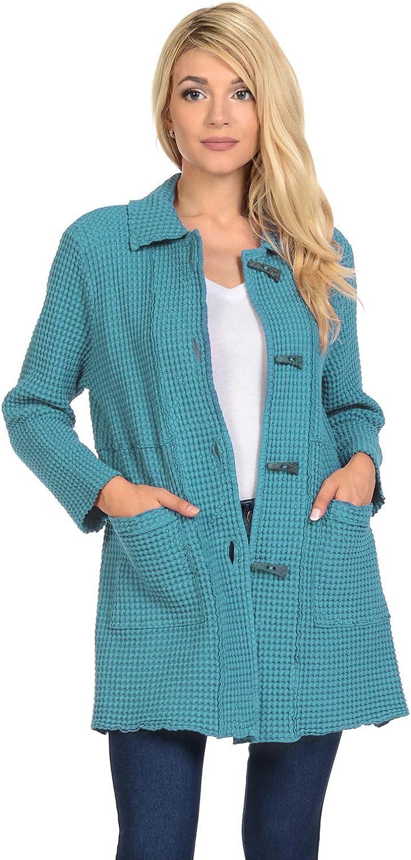 Focus Louisville-Jefferson County Mall Fashion Women's Cotton Big Jacket-BW112 Waffle All Daily bargain sale Seasons